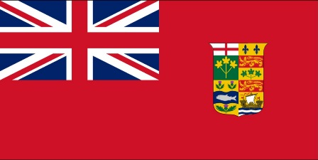 Canadian defaced ensign as used in 1918