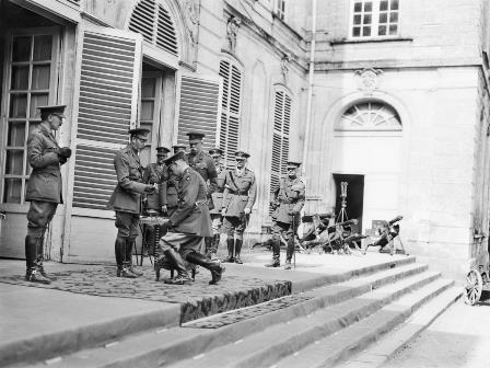 Knighted in the field