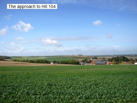 The approach to Hill 104