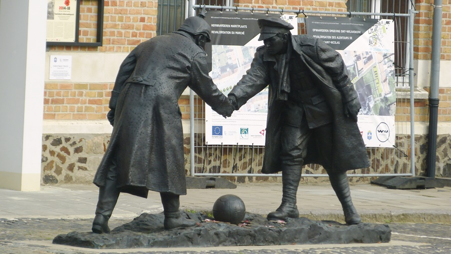 Christmas Truce Monument Messines