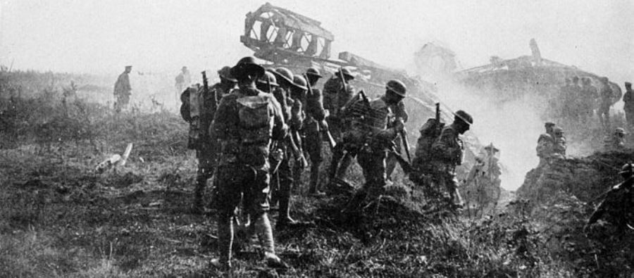 US Troops at the Hindenburg Line