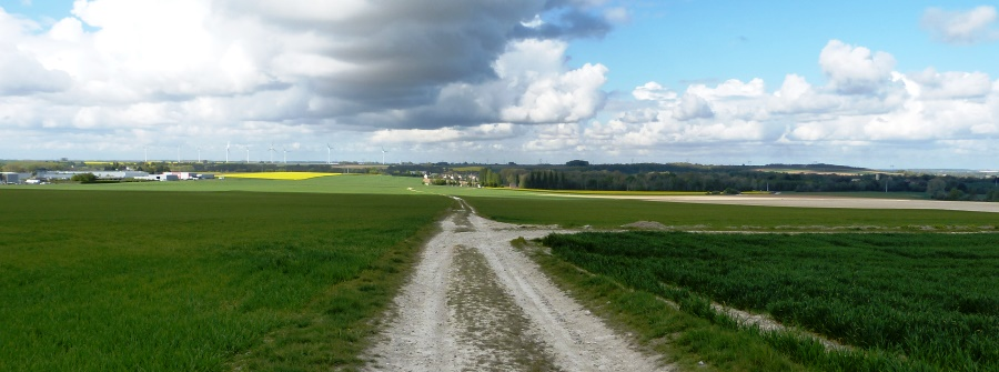 Looking toward Peronne from Mt St Quentin