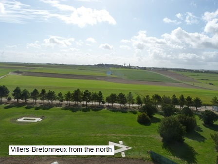 Villers Brettoneux from the north