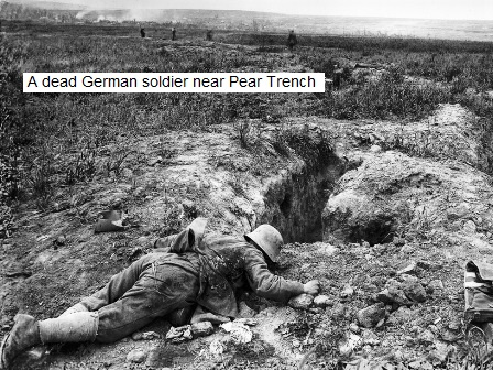 A dead German near Pear Trench