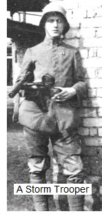 A Storm Trooper Bergman 9 mm SMG and Luger