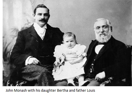 John, Bertha and Louis Monash