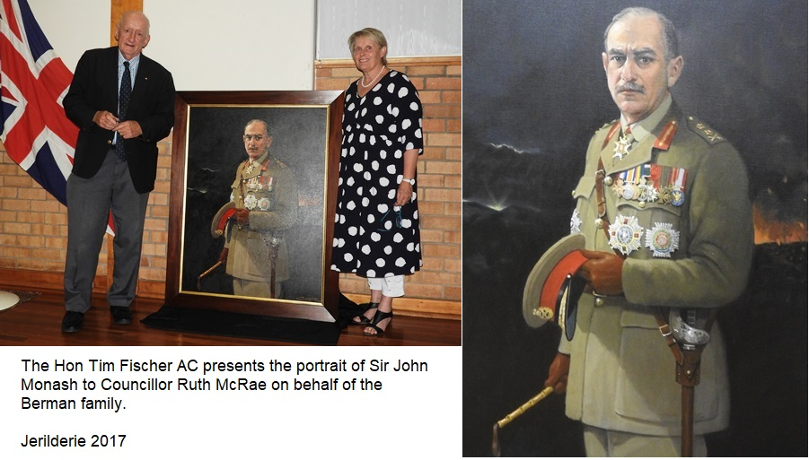 Portrait gifted to Jerilderie